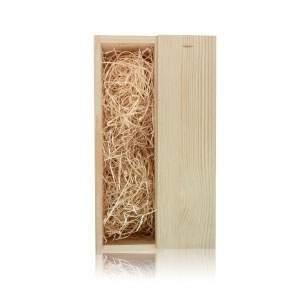 De bovenzijde van deze houten doos kun je laten bedrukken met bijvoorbeeld je logo